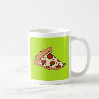 Pizzascheibeentwurf Kaffeetasse