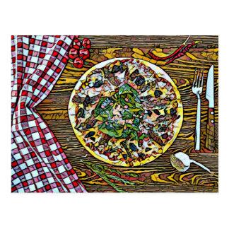 Pizzatortenperfektion für Postcrossing Postkarten