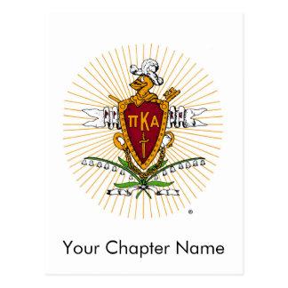 PKA Wappen-Farbe verwittert Postkarte