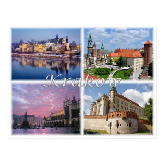 PL Polen Polska - Krakau - Postkarte