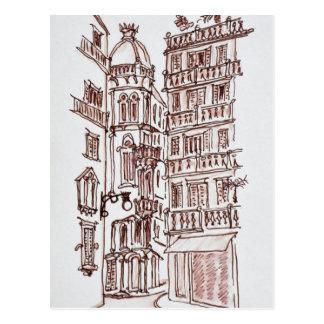 Placa De Manises in alter Stadt | Valencia, Postkarte