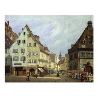 Place du Marken-Zusatz-Frucht, Colmar, 1875 Postkarte