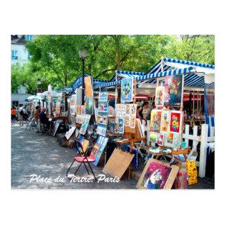 Place du Tertre Paris Postkarte