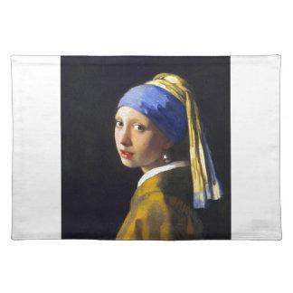 Placemat~Girl w Perlen-Ohrring ~ Vermeer Tisch Set
