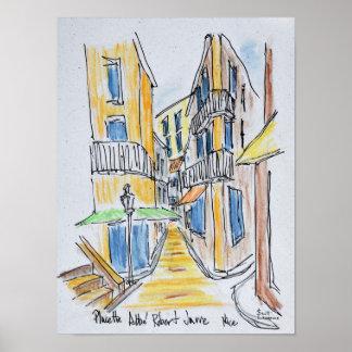 Placette Abbe Robert rüttelte | altes Nizza, Poster