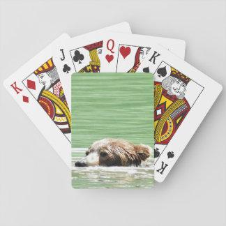 Plaing Karten des Schwimmen-Grizzlybären Spielkarten