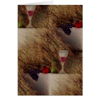 Plaisirs trägt mehrfache Produkte Früchte Grußkarte