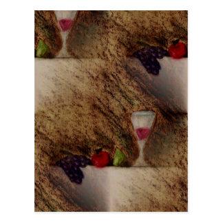 Plaisirs trägt mehrfache Produkte Früchte Postkarte