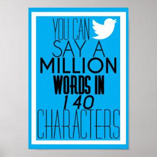 Plakat A4 - 'Sie können Million Wörter sagen