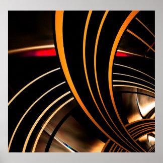 Plakat-abstrakter Kunst-Goldraum 2 Poster