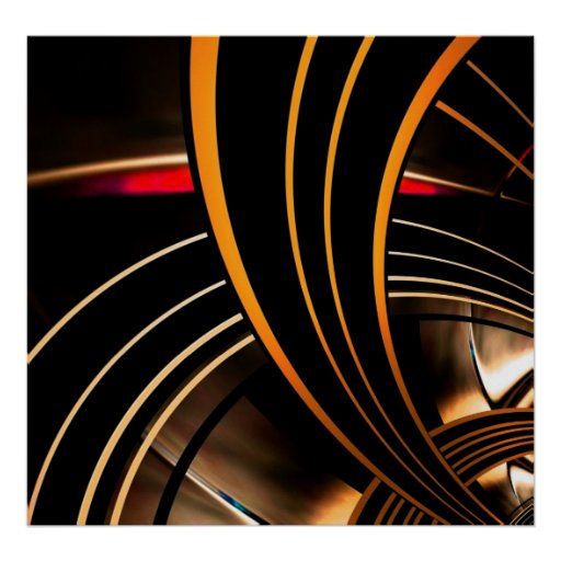 Plakat-abstrakter Kunst-Goldraum 2