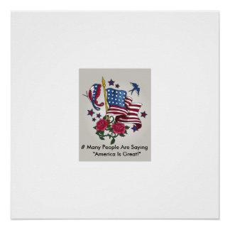 Plakat, Amerika ist, USA groß Poster