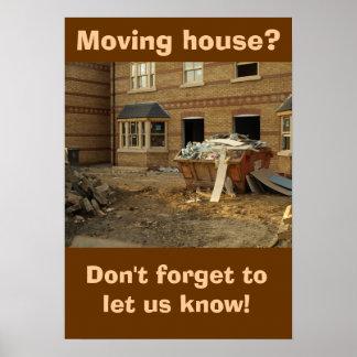 Plakat: Bewegliches Haus