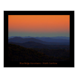 Plakat - blaues Ridge-Berg, North Carolina