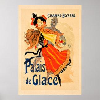 Plakat Champions Elysees Palais de Glace Vintage