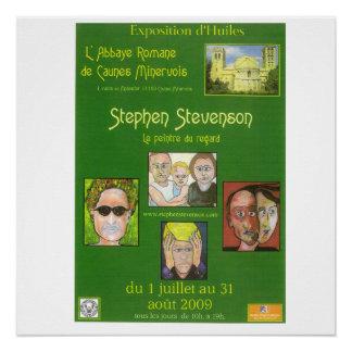 Plakat der Ausstellung in Caunes Minervois Poster