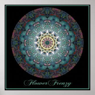 Plakat der Blumen-Raserei-3