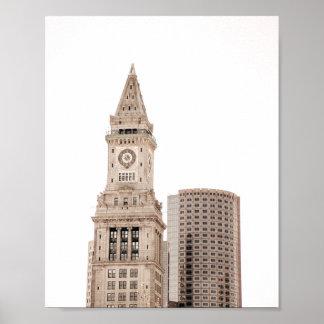 Plakat der Boston-Stadt-Architektur-|