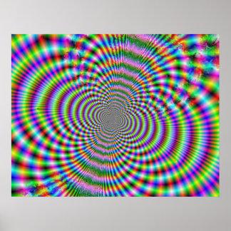 Plakat der Fraktal-optischen Illusions-2