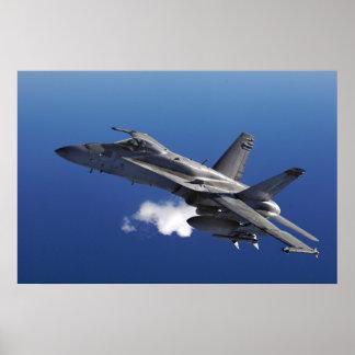 Plakat der Hornissen-F/A-18