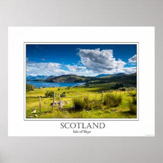 Plakat der Insel von Skye in Schottland