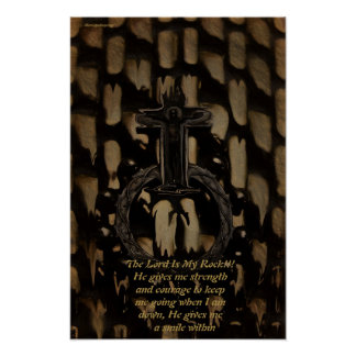Plakat, der Lord Is My Rock Poster