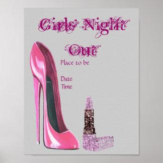 Plakat der Mädchen Nachtheraus