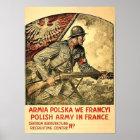 Plakat der polnischen Propaganda während WW1