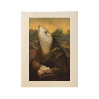 Plakat der Sardine Lisa Holzposter