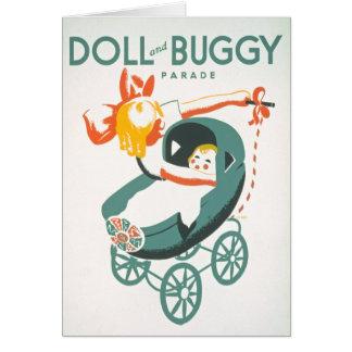 Plakat der Transportwagen-u. Buggy-Parade-WPA Karte