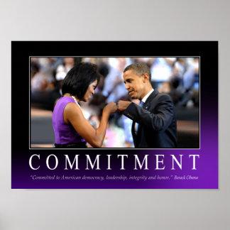 Plakat der Verpflichtungs-(Obama-Faust-Stoß)