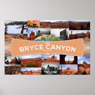 Plakat des Bryce Schlucht-Nationalparks