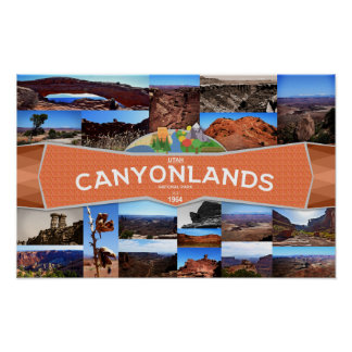 Plakat des Canyonlands Nationalparks
