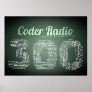 Plakat des Kodierer-Radio-300