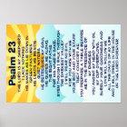 Plakat des Psalms 23