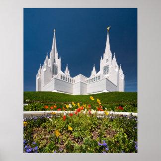 Plakat des San Diego LDS Tempels