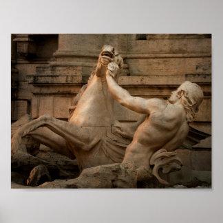 Plakat des Trevi-Brunnens in Rom, Italien