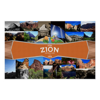 Plakat des Zion Nationalparks