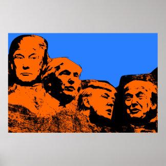 Plakat Donald Trump der Mount Rushmore