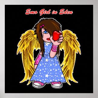 Plakat/Druck:  Emo Mädchen in Eden