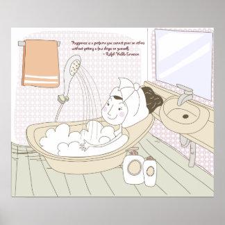 Plakat-Druck Happyness Zitat-10