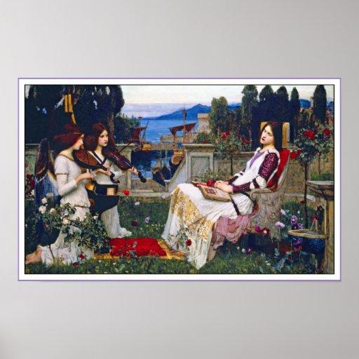 Plakat-Druck:  Heiliges Cecilia - JohnWaterhouse