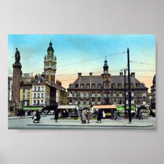 Plakat/Druck - Lille, Frankreich - La-Börse Poster