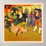 Plakat/Druck: Tanzen des Boleros: Toulouse-Lautrec Poster