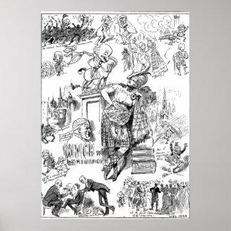 Plakat-Durchschlags-Zeitschrift Herr-Punch Goes To