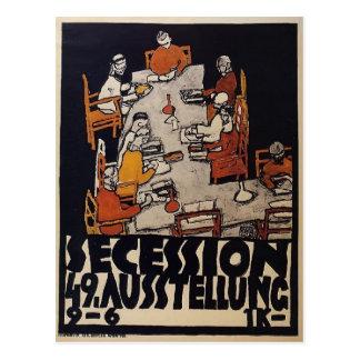 Plakat Egon Schiele- für die Wien-Sezession Postkarte