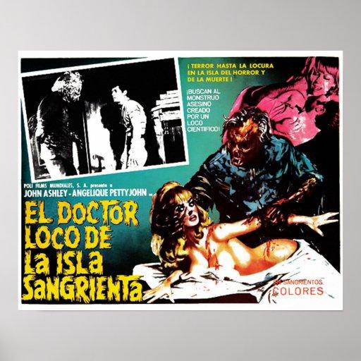 Plakat EL-Doktor-Loco De La Isla Sangrieta