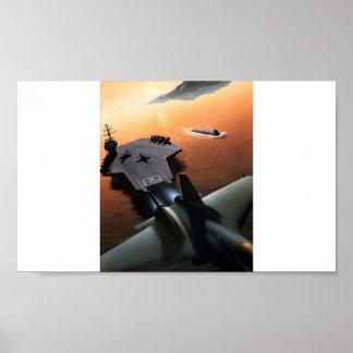 Plakat-Flugzeugträger
