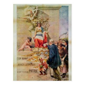 Plakat für das zweite Darlehen für Postkarte