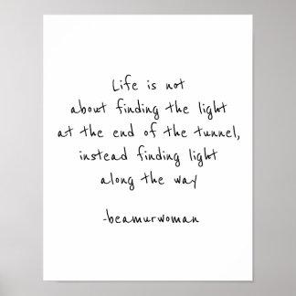 Plakat für die Gestaltung finden das Licht